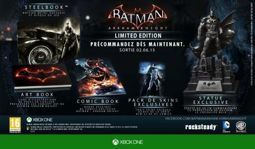 Batman Arkham Knight en édition limitée sur xbox one