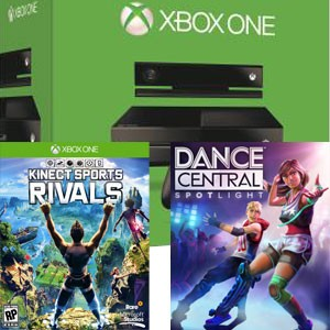 bon plan console xbox one avec kinect et 2 jeux. Black Bedroom Furniture Sets. Home Design Ideas
