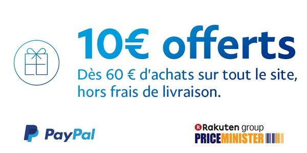 code promo priceminister 10 d s 60 avec paypal. Black Bedroom Furniture Sets. Home Design Ideas