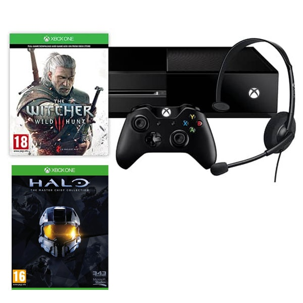 bon plan console xbox one pas cher avec the witcher 3 et halo. Black Bedroom Furniture Sets. Home Design Ideas