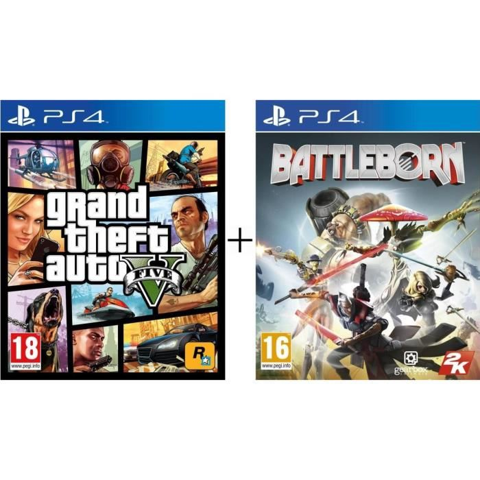 bon plan pack gta 5 avec battleborn pas cher sur ps4. Black Bedroom Furniture Sets. Home Design Ideas