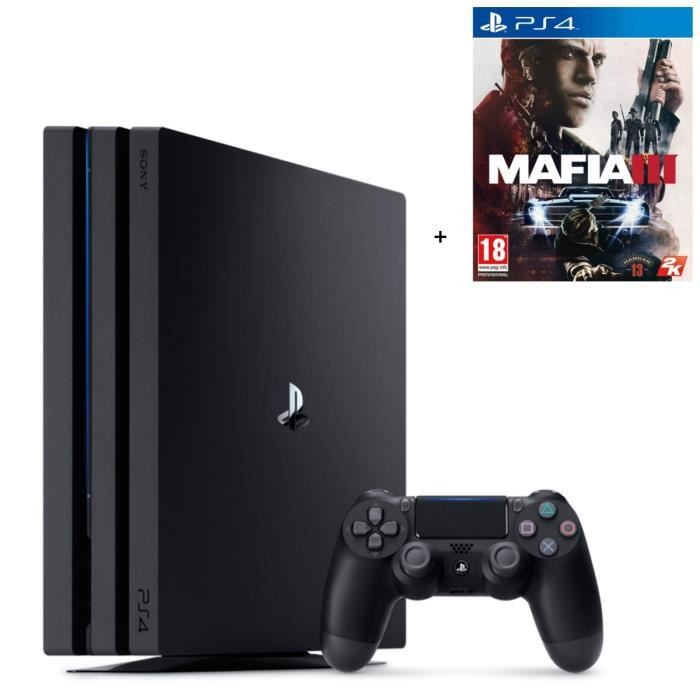 bon plan console ps4 pro 1 to pas cher avec mafia 3. Black Bedroom Furniture Sets. Home Design Ideas