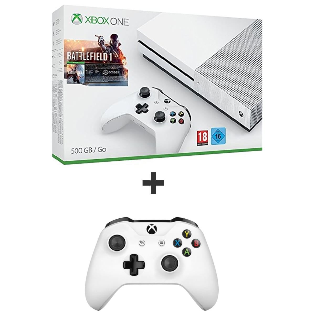 bon plan console xbox one s pas cher avec battlefield 1. Black Bedroom Furniture Sets. Home Design Ideas
