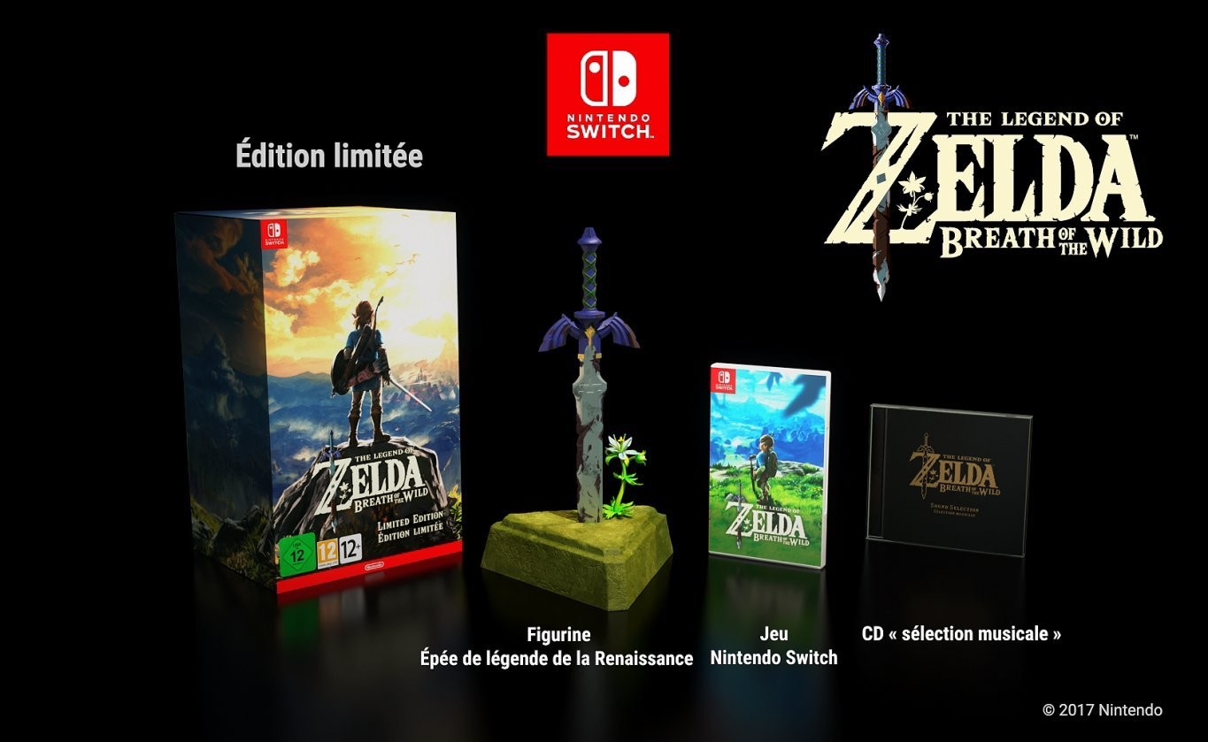 bon plan pr commande zelda breath of the wild collector. Black Bedroom Furniture Sets. Home Design Ideas