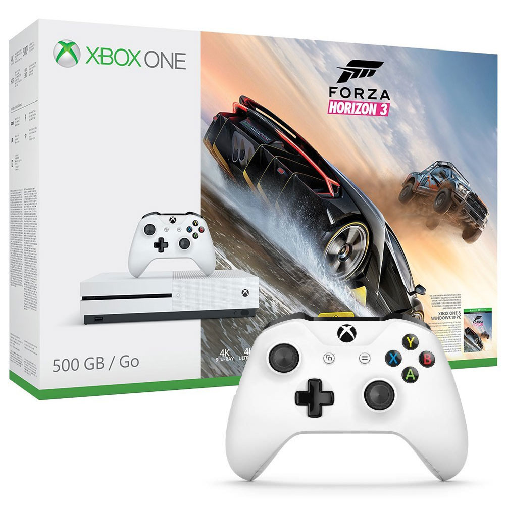 bon plan console xbox one s avec forza horizon 3 et 2 manettes pas cher. Black Bedroom Furniture Sets. Home Design Ideas