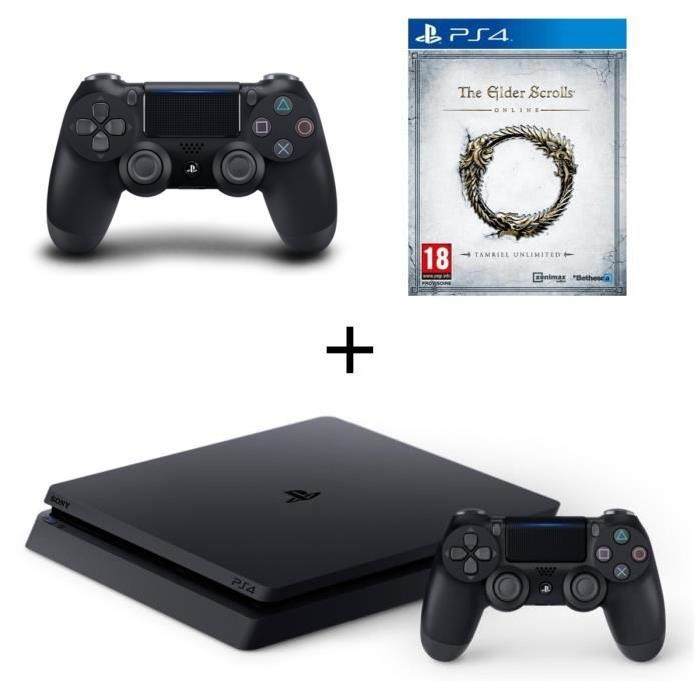 bon plan console ps4 slim avec 2 manettes et the elder. Black Bedroom Furniture Sets. Home Design Ideas