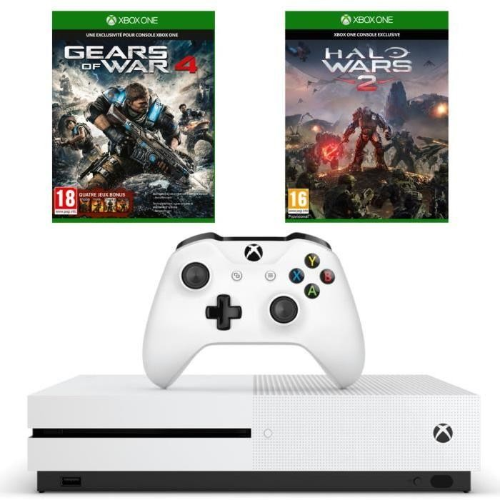 bon plan console xbox one s pas cher avec gears 4 et halo. Black Bedroom Furniture Sets. Home Design Ideas