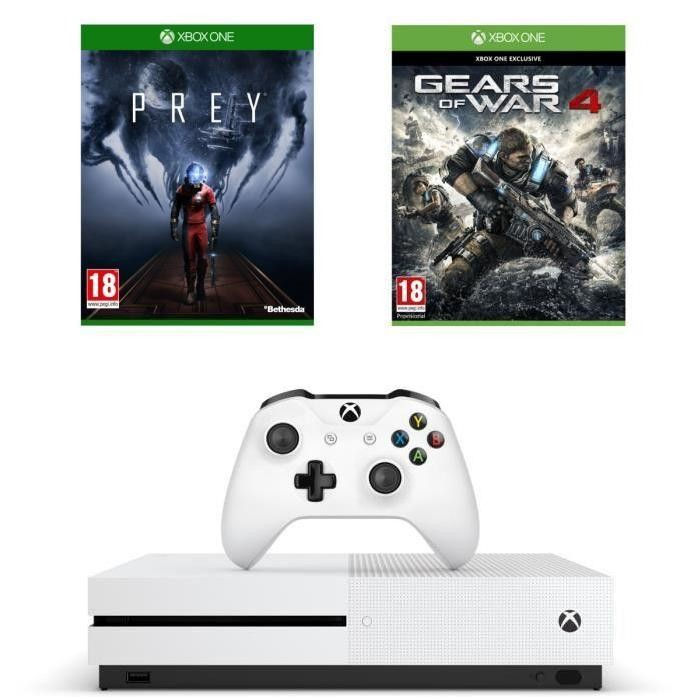 bon plan console xbox one s prey et gears of war 4 pas chers. Black Bedroom Furniture Sets. Home Design Ideas