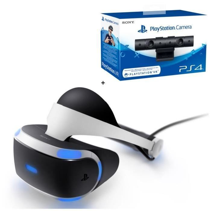 bon plan casque playstation vr avec sa camera officielle pas cher. Black Bedroom Furniture Sets. Home Design Ideas
