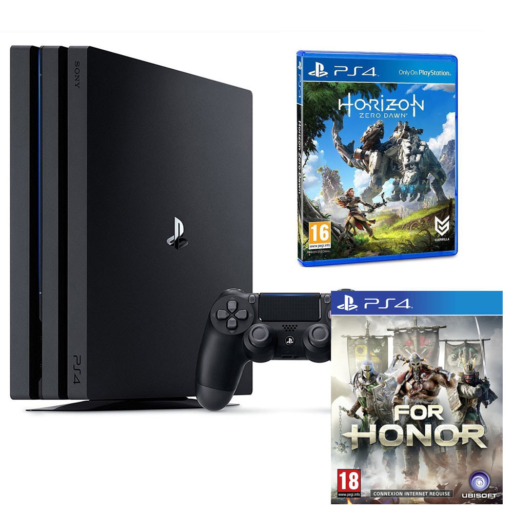bon plan console ps4 pro avec horizon zero dawn et for. Black Bedroom Furniture Sets. Home Design Ideas