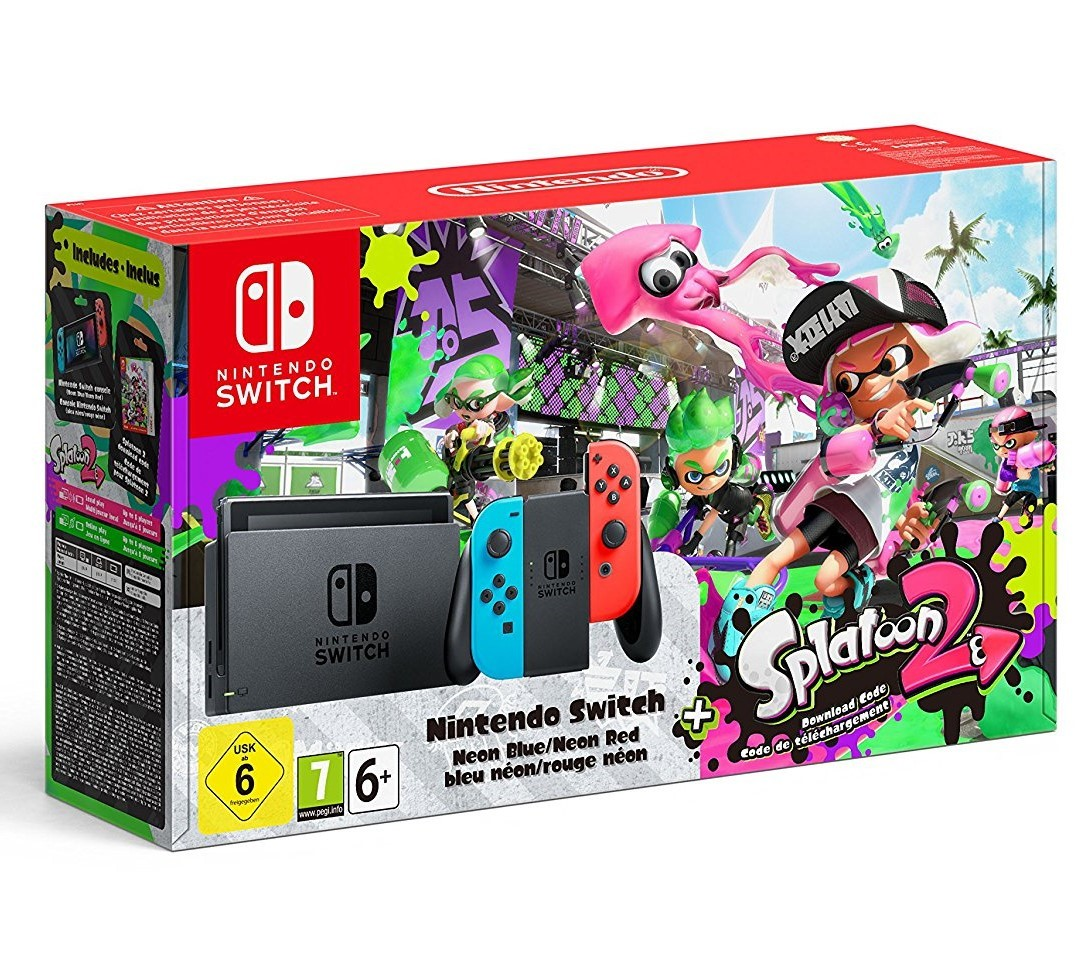 bon plan pr commande console nintendo switch splatoon 2 pas cher. Black Bedroom Furniture Sets. Home Design Ideas