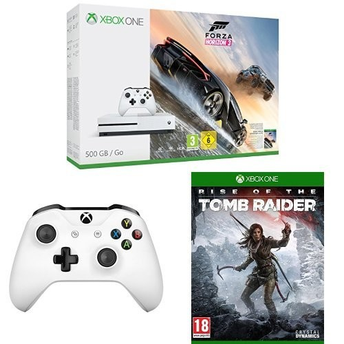 maj console xbox one s forza horizon 3 rise of the tomb raider 2 me manette. Black Bedroom Furniture Sets. Home Design Ideas