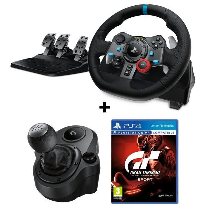 bon plan volant logitech g29 pas cher avec gran turismo sport. Black Bedroom Furniture Sets. Home Design Ideas