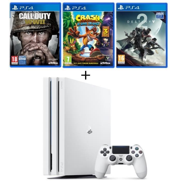 super bon plan console ps4 pro blanche call of duty. Black Bedroom Furniture Sets. Home Design Ideas