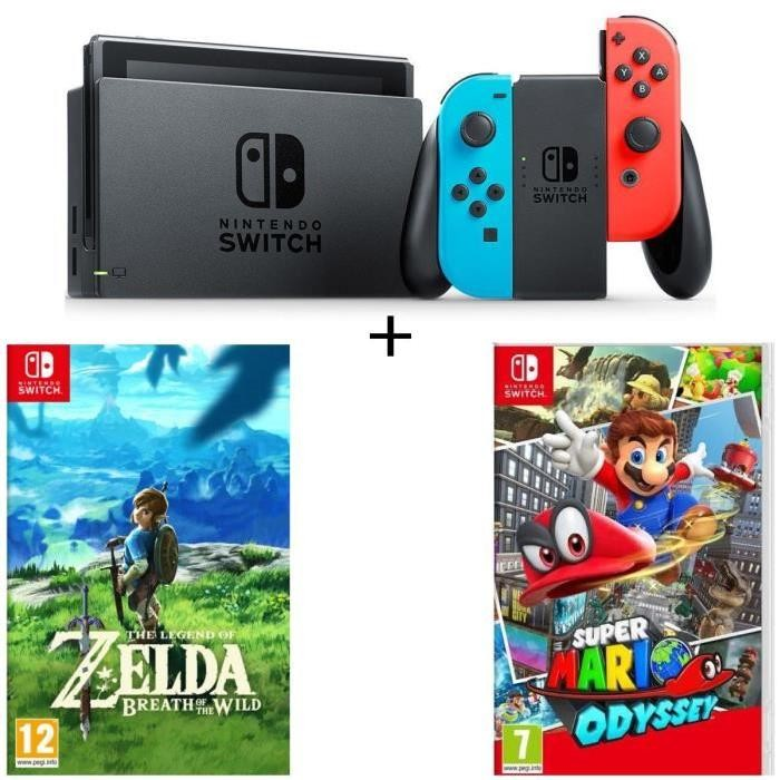 bon plan console nintendo switch avec zelda et mario odyssey. Black Bedroom Furniture Sets. Home Design Ideas