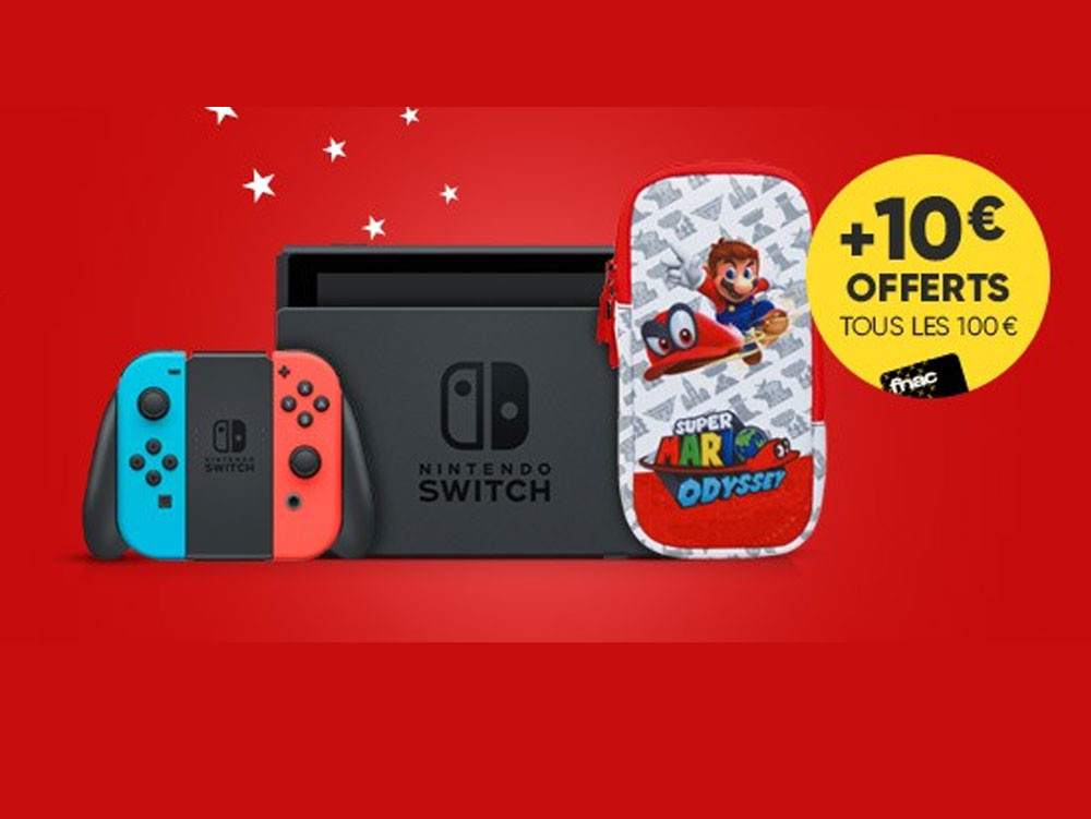 bon plan console nintendo switch avec set d 39 accessoires mario offert. Black Bedroom Furniture Sets. Home Design Ideas