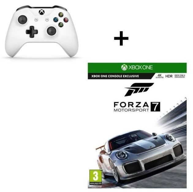 bon plan manette xbox one forza motorsport 7 pas cher. Black Bedroom Furniture Sets. Home Design Ideas