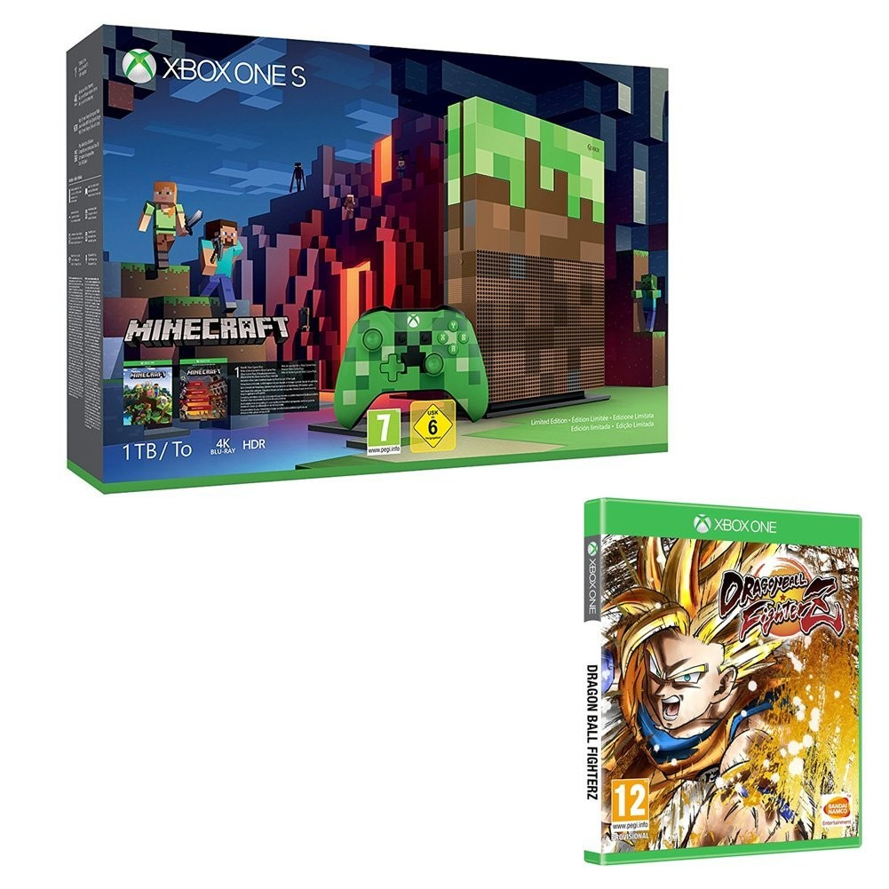 bon plan xbox one s minecraft collector avec dragon ball. Black Bedroom Furniture Sets. Home Design Ideas