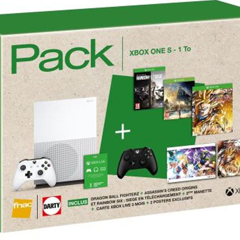 bon plan bundle xbox one s 3 jeux et 2 me manette pas cher. Black Bedroom Furniture Sets. Home Design Ideas