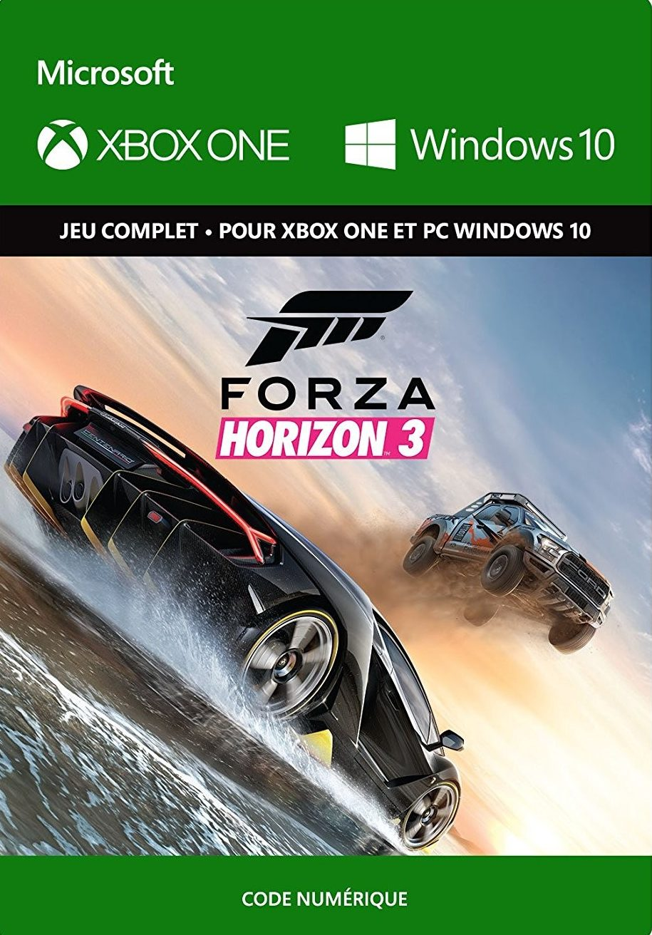 bon plan forza horizon 3 pas cher sur xbox one. Black Bedroom Furniture Sets. Home Design Ideas