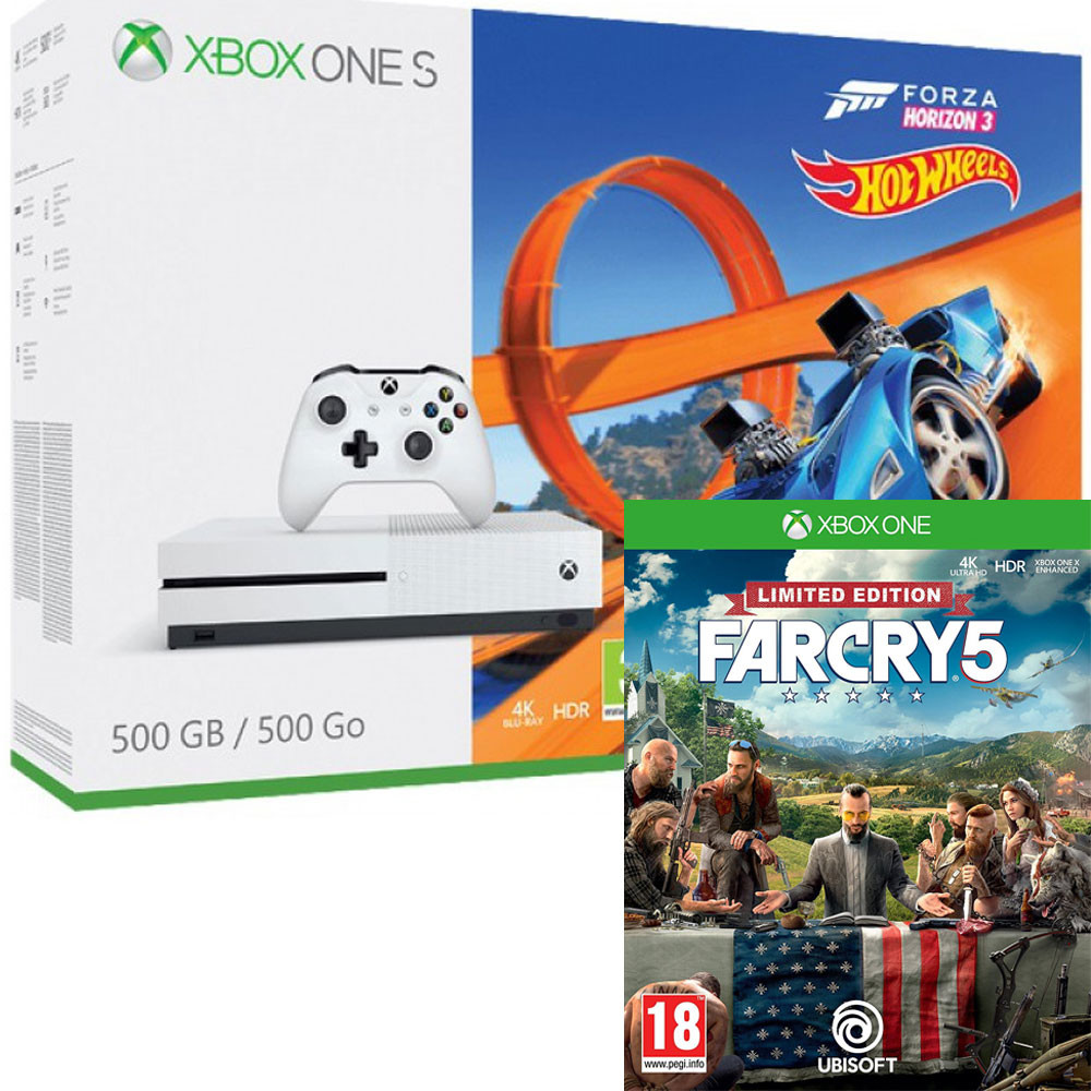 maj console xbox one s 1 to forza horizon 3 dlc hot wheels far cry 5 249. Black Bedroom Furniture Sets. Home Design Ideas