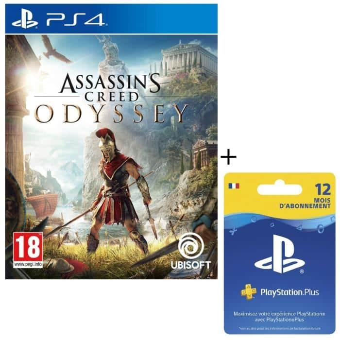 assassin 39 s creed odyssey abonnement de 12 mois au playstation plus pour ps4. Black Bedroom Furniture Sets. Home Design Ideas