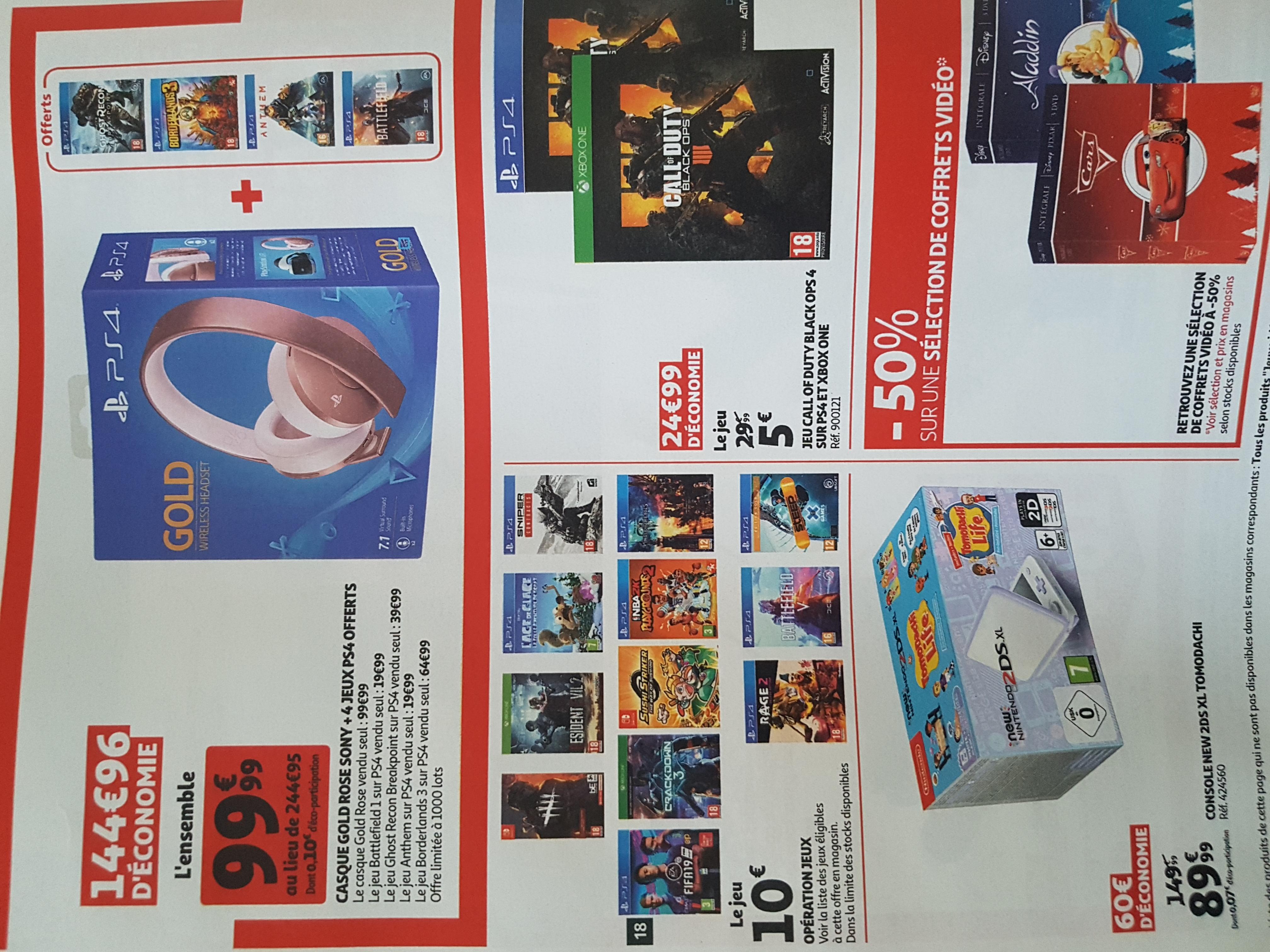Bon Plan Auchan Offres Des Soldes D Ete 2020 En Jeux Video
